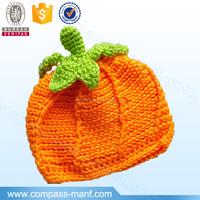 Newborn Baby Crochet Knit Pumpkin Hat