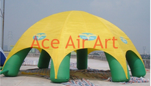 For advertising yellow cover cloth green doom 6 legs inflatable spider tent