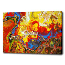 100% Painted Wall Art Colourful Abstract Canvas Oil Painting for Bar adornment picture