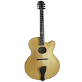 18 inch yunzhi fully handmade solid wood jazz guitar with armrest