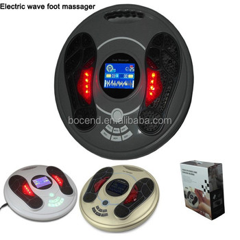 Electric wave foot massager with tens,