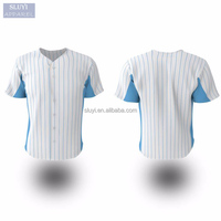 baseball uniform mens Customized design your own logo jersey printed shirts sublimation short sleeve button custom hockey jersey