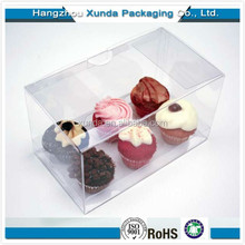 Customized Top selling Clear Plastic Cupcake Boxes Packaging Gift Box