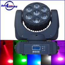 Pro dj Lighting 7X12W RGBW 4in1 led beam moving head wash zoom stage light wholesale