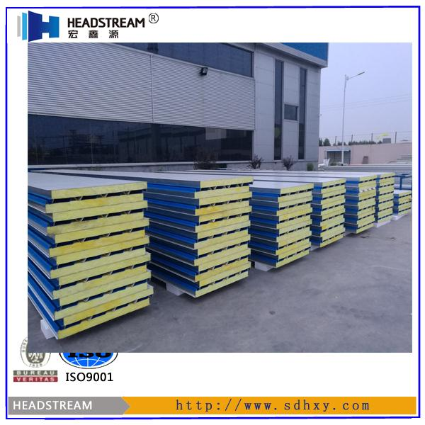 CE&ISO approved Fire Proof Glasswool Acoustic Light Weight Solar Sandwich Panel
