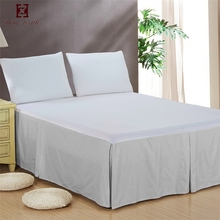 Classic Luxury Fashion 5 Star Hotel Pleated Plain Cotton Bed Skirt