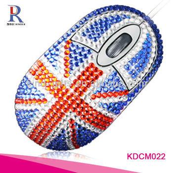 hot selling bling crystal rhinestone wireless mouse