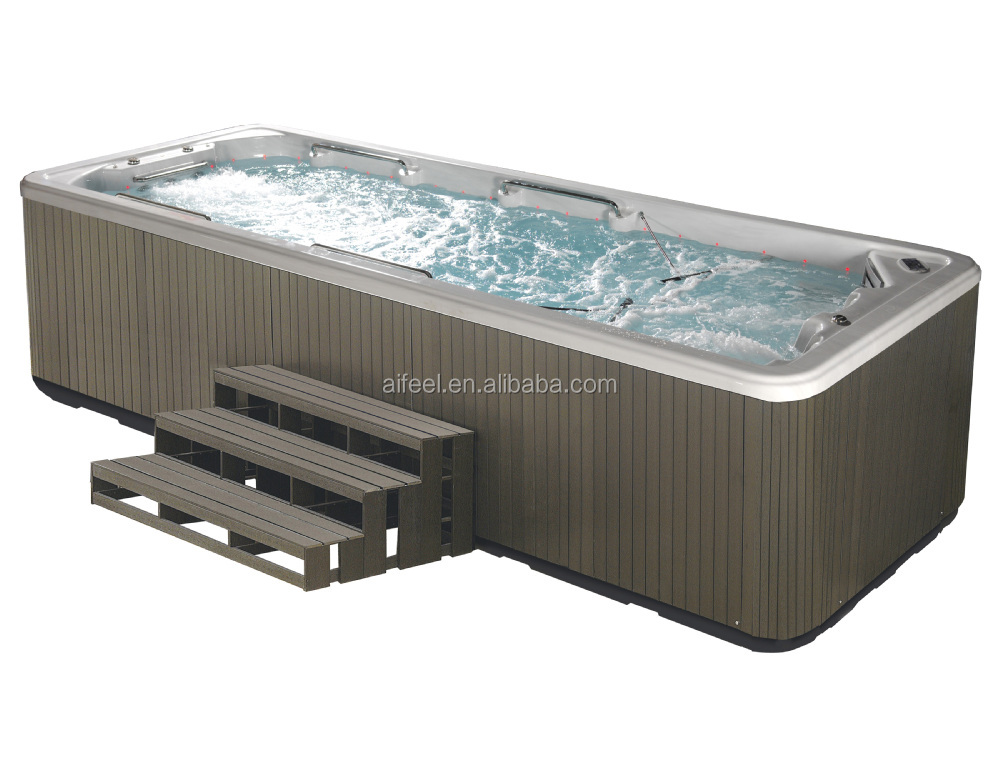 European Style Freestanding Acrylic Balboa System Portable Massage Outdoor Rectangular Above