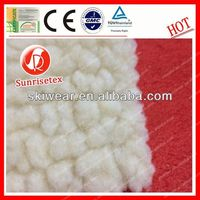 wholesale anti-static polyester berber fleece fabric for winter cloth