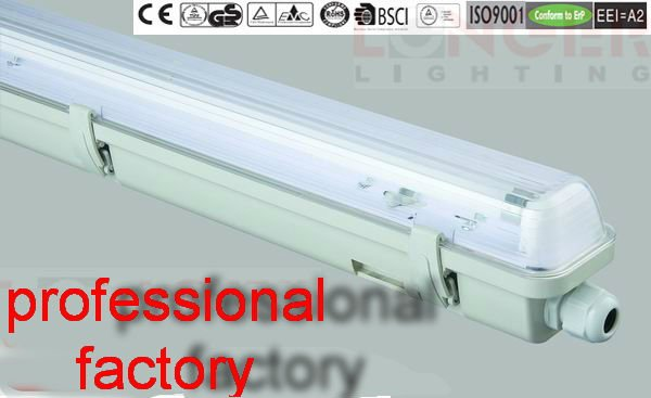 E IP65 T5 lighting fixtures 14W/28W/35W ISO9001/CE/ROHS/GS/BSCI waterproof candle light