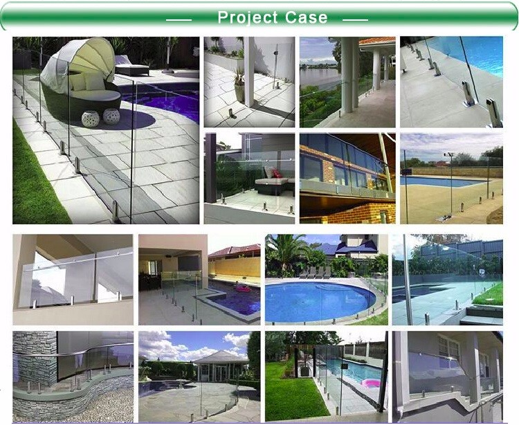 glass deck railing system swimming pool fence 12mm glass mini posts