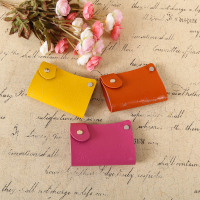 Stamping pu leather card holder card purse