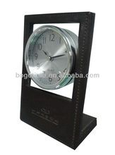 2015 Unique Hotel Decor Table Leather Alarm Clock