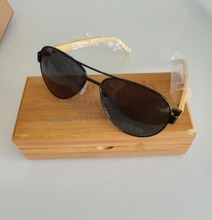 custom engrave laser logo wooden bamboo sunglasses cases