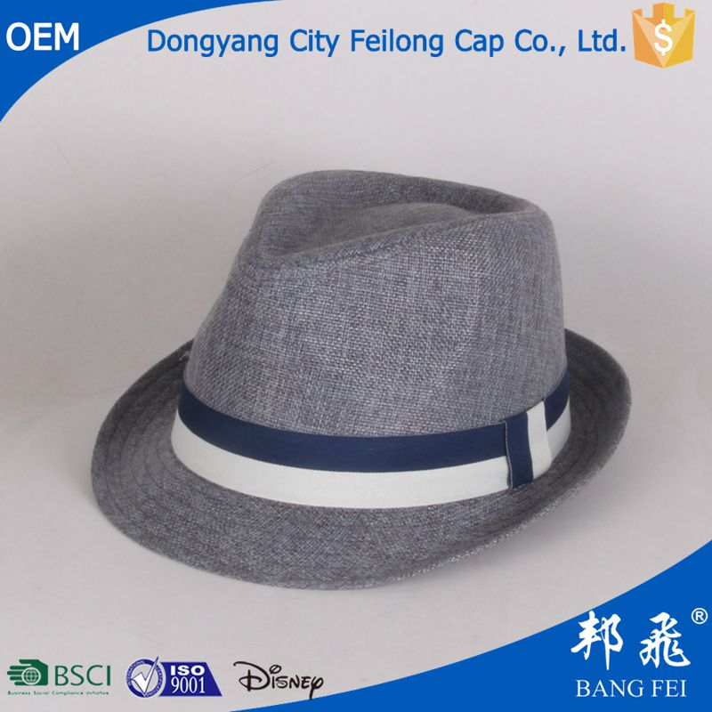 wholesale unisex paper straw cheap fedora hat custom logo band hat