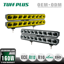"16"" slim Single row 2 pcs 80W Led driving light bar for Off road Jeep"