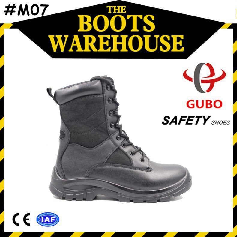 oem waterproof steel toe cap military boot