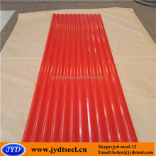 color coated corrugated wave shape iron metal roof for building