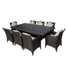 Outdoor Rattan Dining Furniture, Rattan Table and Chairs, Rattan Outdoor Dining Table Set
