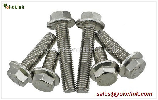 <strong>M10</strong> Stainless Steel Solar Panel hex flange bolt For strut channel hardware
