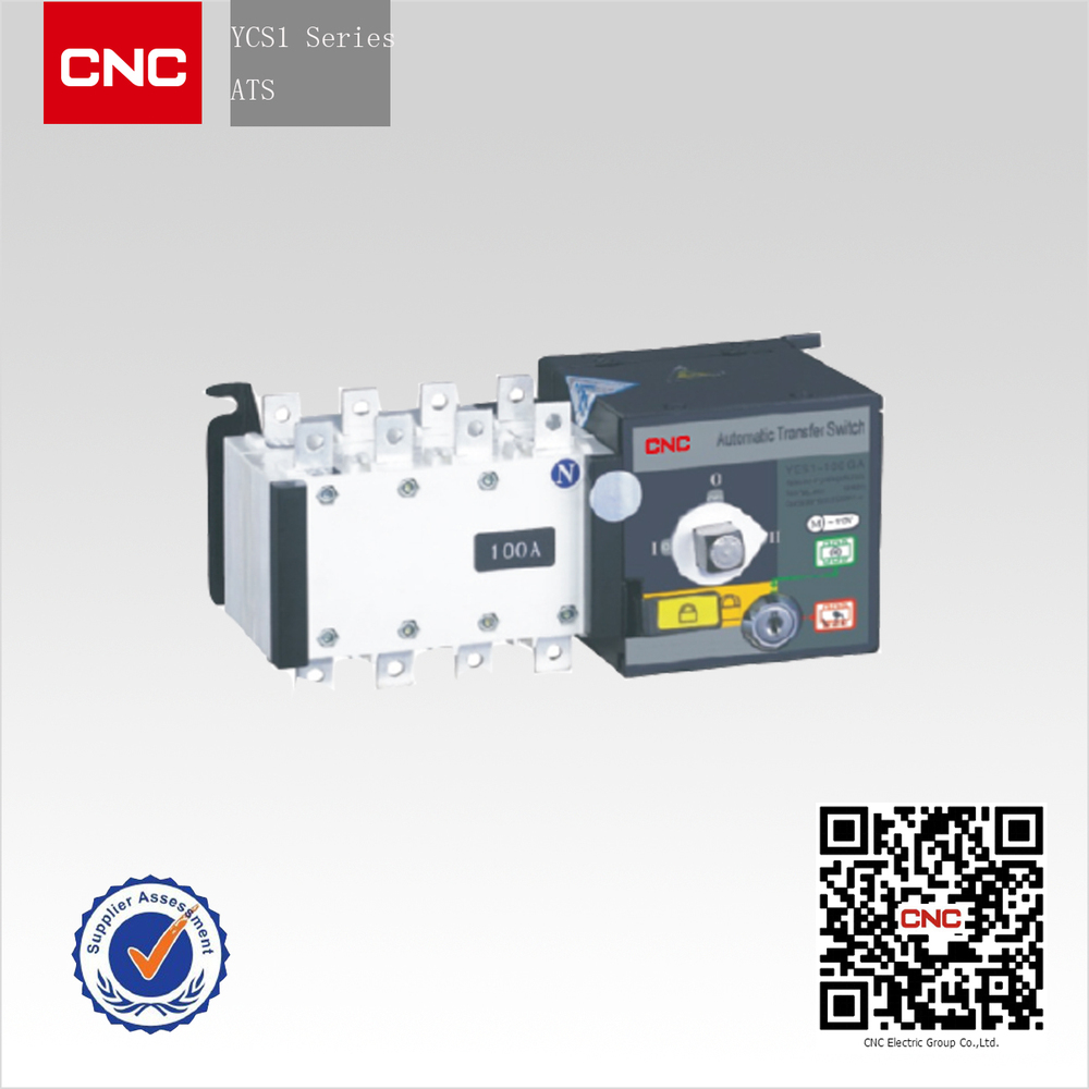 YCS1 Series Dual-power Automatic Transfer Switch ats panel supplier