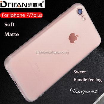 DFIFAN clear soft tpu case for apple iphone 7 plus ,matting cover case for iphone 7