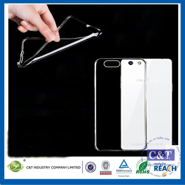 C&T Mobile Phone Accessory New Product Transparent TPU Cover Soft Gel Case for Oppo Mirror 5s