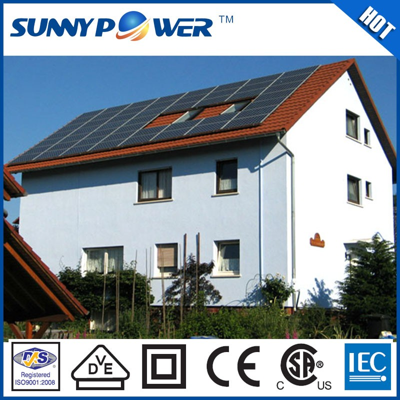 complete set solar panels for home 5000w,solar panel mounting system for home/hotels 1kw to 50kw