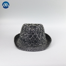 Ladies fashionable polyester wholesale knitted hat