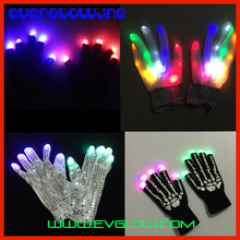 LED Finger Light Gloves Glow in the Dark Luminous Gloves