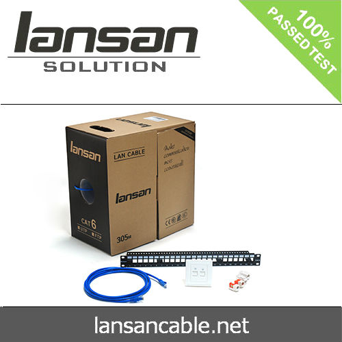 High quality 4 pair utp 23awg d-link cat6 lan cable