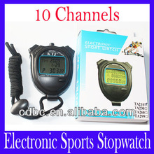 Mini digital sport watch stopwatch TA210 with Countdown timer function 10 channel