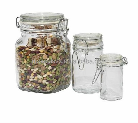 Food Storage Containers Glass Decorative Jar With Lid Buy Food Gorgeous Decorative Glass Storage Jars