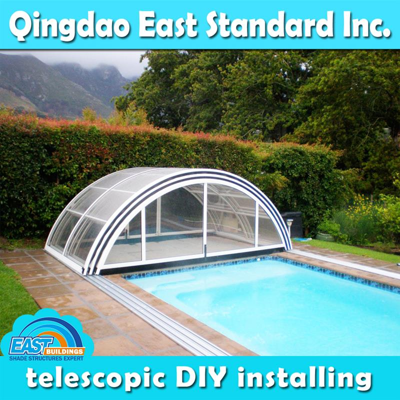 customized size retractable HOT TUB COVER SPA DOME ENCLOSURE