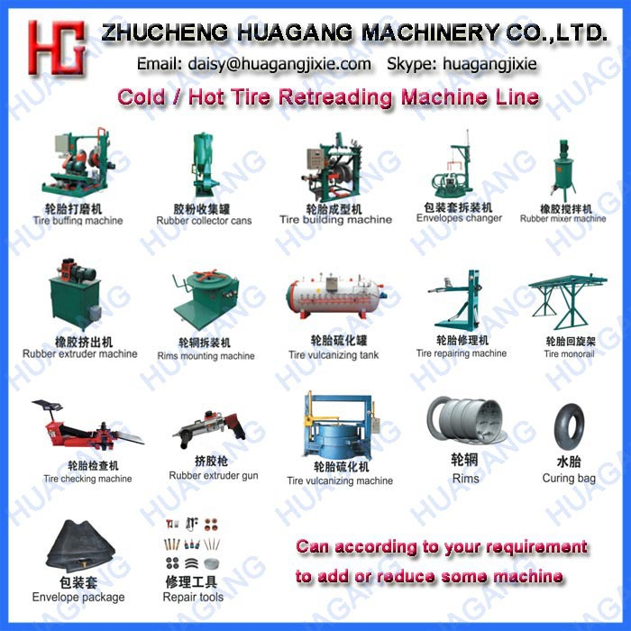 Rubber cold tire retreading machine for car tire
