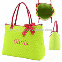 Monogrammed Quilted Overnight Large Tote Handbags - the Chic Accessories for Women