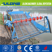 Water Cleaning Vessel/boat/ship/machine in river for the floating trash, aquatic weed