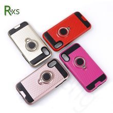 2017 new style 3D 360 degree rotatable magnetic ring finger holder stand PC TPU phone case for Iphone 8