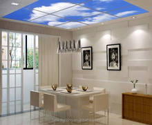 2018 Blue sky led panel 3D image <strong>flat</strong> ceiling led panel light