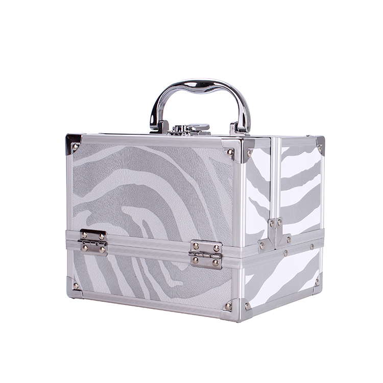 Wholesale Women Double Open Cosmetic Box Storage Handle Acrylic Travel Makeup Case