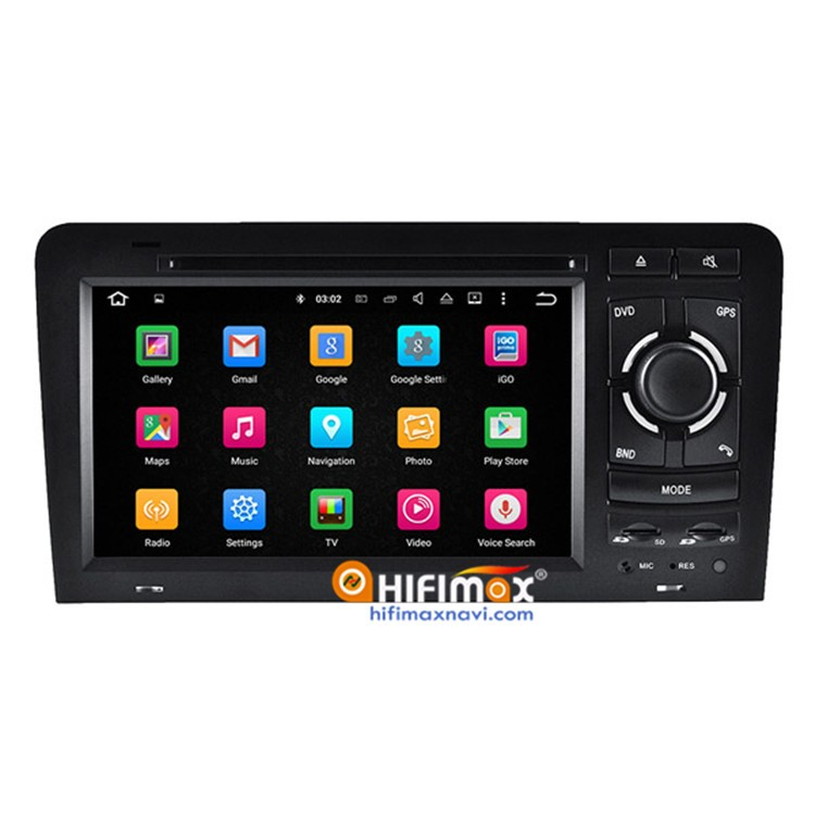 Hifimax Android 5.1 Car DVD GPS Player For Audi A3/S3 Sport 2004 2006(2003-2012) Multimedia Video Navigation Support Bose System