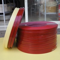 25mm cherry color melamine laminate plastic mdf edge banding tape shelf strips for particle board in furniture making