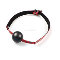 Sex Products Leather Mask Harness With Silicone Ball Gag Harness Fetish Bondage Sex Mask Adult Erotic Toys