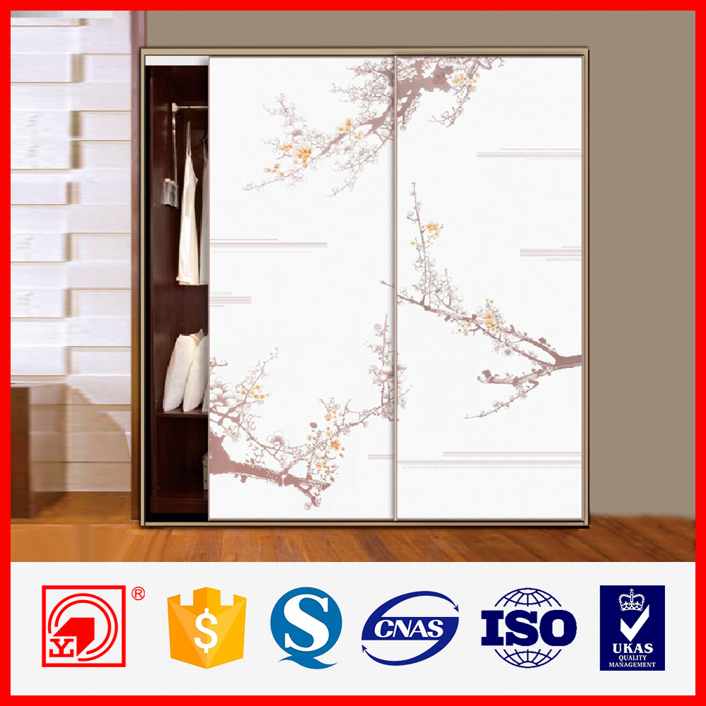Cheap closet glass wardrobe sliding doors bedroom wardrobe for Cheap sliding glass doors
