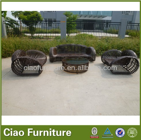 Stylish Popular aluminium Cane Rattan Garden Furniture
