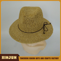 Wholesale Straw Paper Straw Cowboy Hat made in China