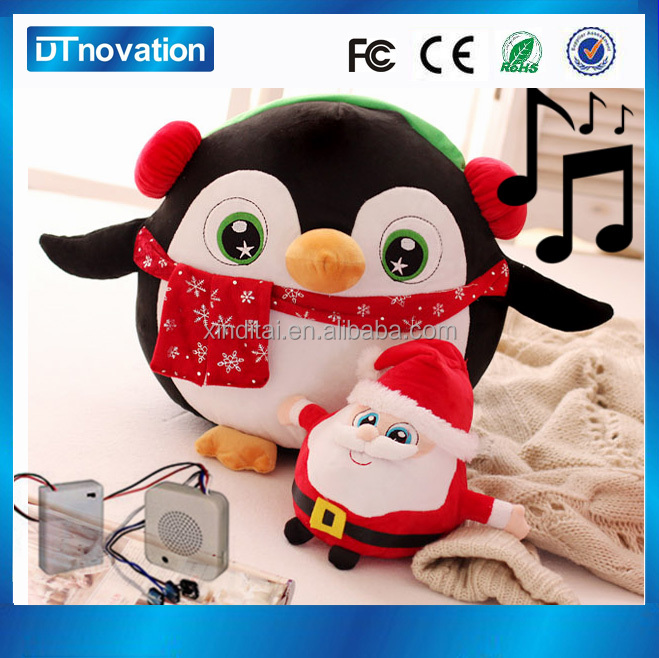 Musical christmas Penguin stuffed animal plush toy