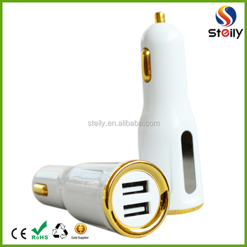Dual USB Car Charger with LED light CE/ROHS/FCC