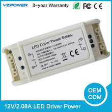 12V 2.08A LED Transformer Driver Light Power Supply Air Cooling Switching AC Adapter