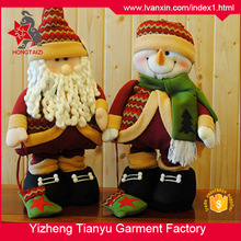 Good Quality Popular Plush Santa Claus Stuffed Christmas Decoration Toy